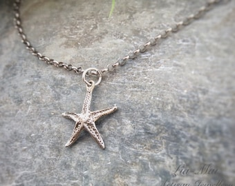 Sterling SILVER STARFISH NECKLACE - Starfish Necklace - Nautical Necklace - Starfish Jewellery