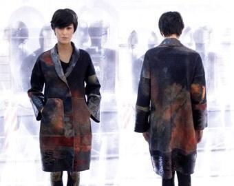 Warm wool coat, Custom made clothing, Plus size coat, Womens outwear, Long wool coat, Ana Livni