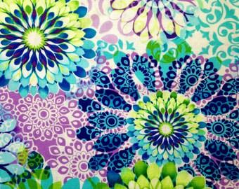 Tribecca Aqua Floral - Cotton