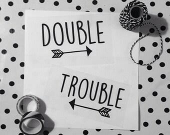 Strijkapplicatie Double Trouble