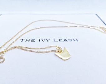 French Ivy Pendant Necklace