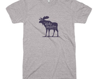 Visit Rocky Mountain National Park Moose Tri-Blend T-Shirt