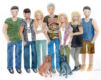 Family portrait illustration