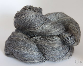 Storm on the Bay - Chai Tussah silk lace yarn - 100gms, dye to order, wild silk, 2 ply, lace weight