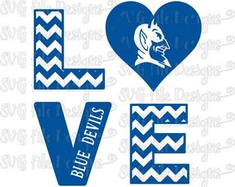 Items Similar To Duke University Blue Devils Print Durham