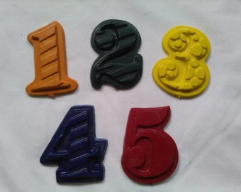 Crayon Numbers Party Favors