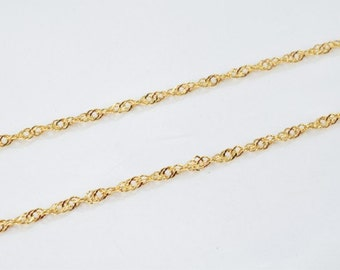 "Gold Filled Chain 22.25"" Inch Twisted 18k Gold-filled findings for gold filled jewelry making Cg79"