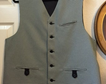 Gentleman's black and white vest