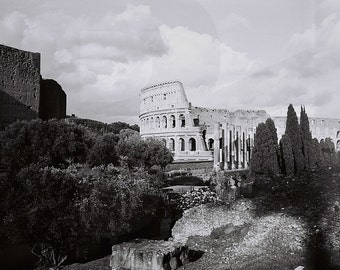 NEW! PRINTABLES - Colosseum, Rome, Analog Art Photography, Black&White Roma, Colosseo, Noir, Monochrome, Italia, Travel Art Photo, Europe