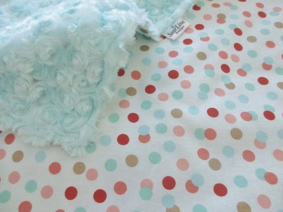 mint and coral polka dot background ezmoney88