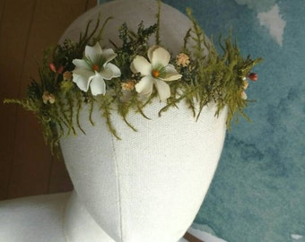 Floral Woodland Crown/Hair Wreath - Customizable