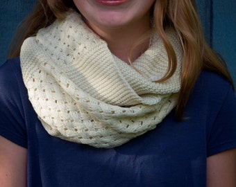 Ivory infinity knit scarf Womens Knit Infinity Scarf Women scarves Fashion Accessories Winter Scarf Circle Knit scarf