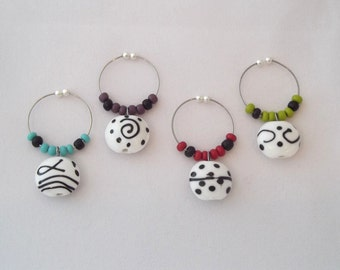 Dots & Doodles Wine Charms