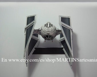 Model of the ship TIE-Interceptor from Star Wars