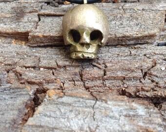 Skull pendant in bronze