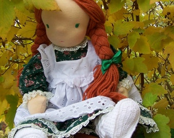 """Waldorf doll red hair 20"""",Hurrem, chic waldorf doll, waldorf inspired doll, steiner doll, cloth doll, poupees,FREE SHIPPING,Creative doll"""