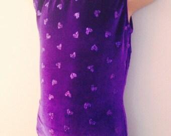 Gymnastics Dance Purple Velour Leotard