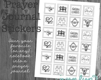 Prayer Journal Printable Stickers--make any notebook a prayer journal