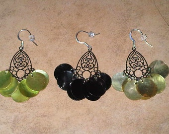Handmade chandelier earrings