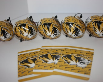 Missouri Tigers Ornaments : Single/Set of 5