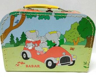 Women's vintage Babar the Elephant clutch purse, hand bag.