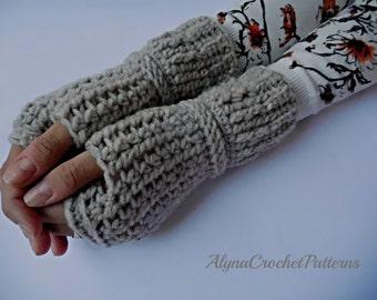 Fingerless Gloves - Crochet Pattern - Fingerless Gloves Crochet Pattern - Mittens Pattern- Instant Download