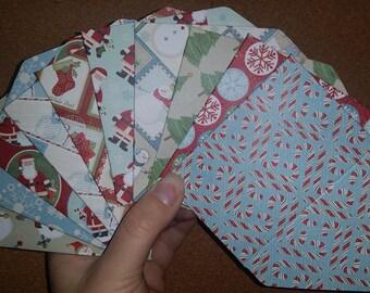 Set of 10 Christmas Gift Card Holders // Mini Envelopes // Gift Card Envelopes
