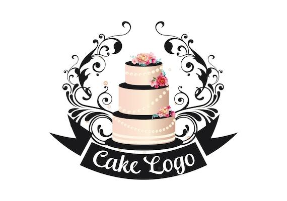 Design Your Own Cake Logo : Premade cake logo Custom logo design bakery logo sweets