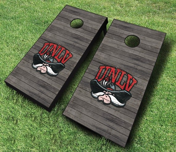 Officially Licensed Unlv Running Rebels Distressed Cornhole