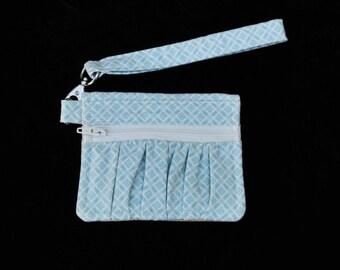 Blue 'Maybole' wallet, women's wallet, small wallet, handmade, fabric wallet