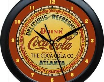 "Vintage Coca Cola  10"" Custom Personalized Wall Clock"