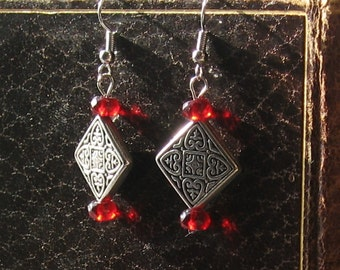 Red Celtic Passion Earrings