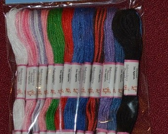 12 pcs embroidery thread /skeins  pack b