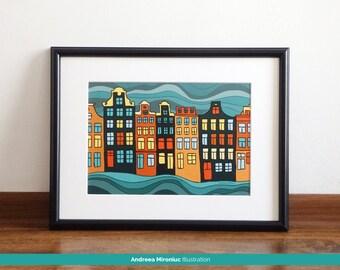 Amsterdam houses | Etsy