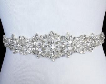Bridal Sash, Bridal Belt, Wedding Sash, Beaded Belt, Crystal Sash, Rhinestone Belt, Wedding Dress Sash, Wedding Dress Belt, style 79