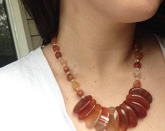 Crimson Agate Jewelry Set