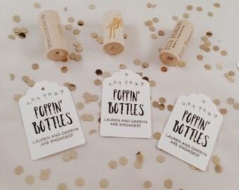 poppin bottles favor tags // custom