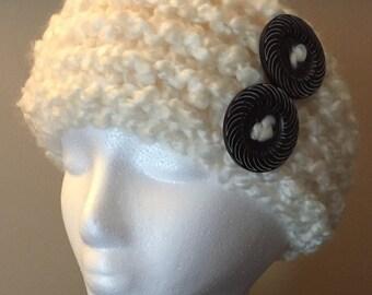 Ear warmer headband - Cream