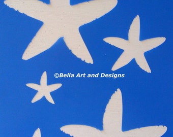 List 3 Assorted Ocean and Seashell Stencils  *Free gift with every order*