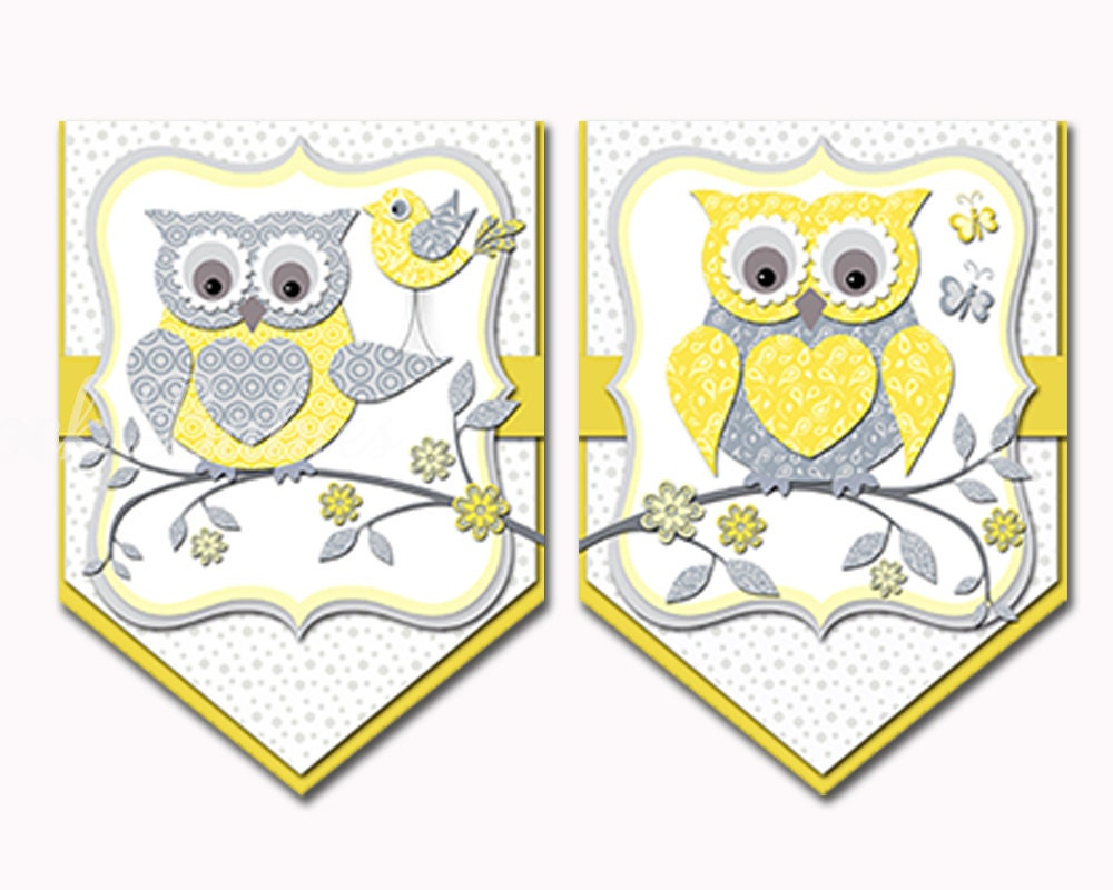 Owl banner It\'s a girl Sign baby shower decoration toddler wall ...