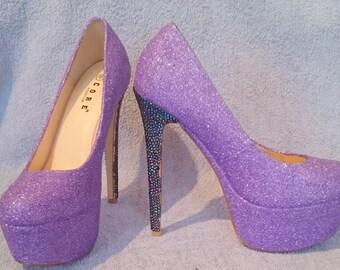 Glitter Shoes High Heel Handmade