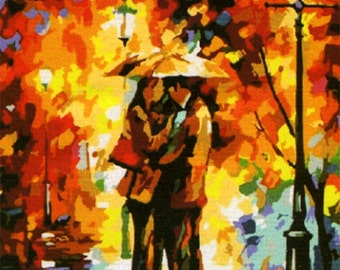 """The painting """"Autumn rendezvous."""""""