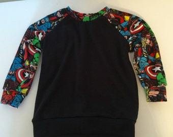 Handmade Size 2 Marvel sweater