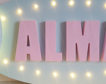 Marquee Name Board, Name In Lights, Letters, Lights, Sign, Light Up,