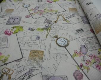 letters vintage fabric