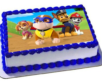 Paw Patrol Edible Cake Topper, Paw Patrol Frosting Sheet,Paw Patrol Birthday Party,Edible Images