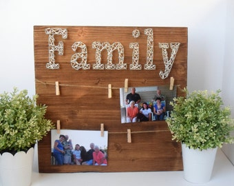 Family string art picture frame