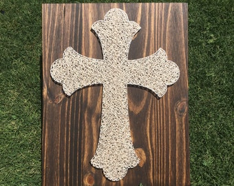 MADE TO ORDER Cross String Art Board