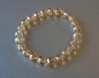 8mm champagne crystal bracelet