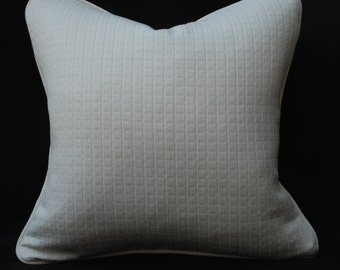 Soft Ivory Matelasse Decorative Pillow with Self Cord